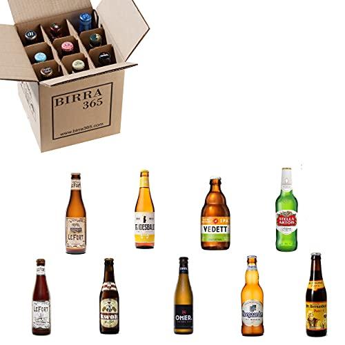 Caja degustación cerveza belga. Selección de 9 cervezas especiales y