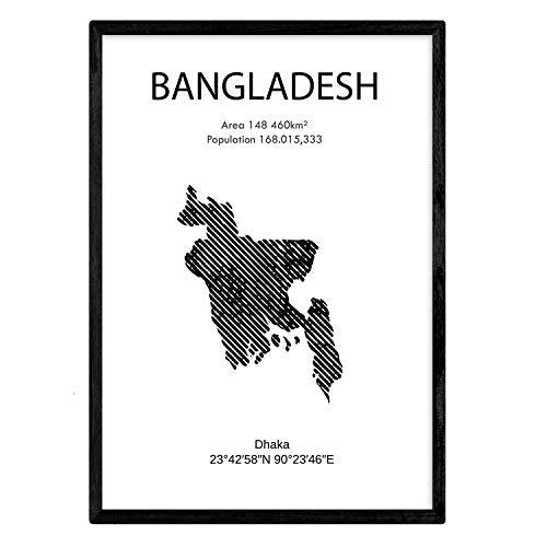 Bangladesh posters. Bladeren uit landen en continenten. A3-formaat