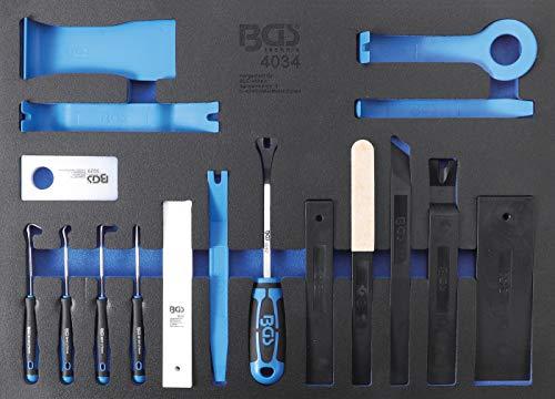 BGS 4034 | Werkstattwageneinlage 3/3: Lösewerkzeuge, Montagekeile und Haken-Satz | 17-tlg.