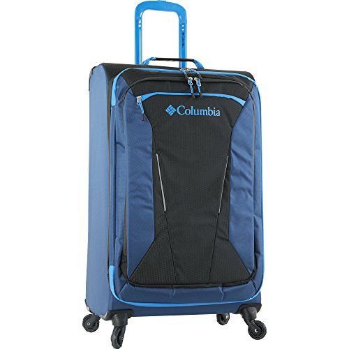 Columbia Kiger 26' Expandable Spinner Suitcase, COAL/NIGHT TIDE BLUE