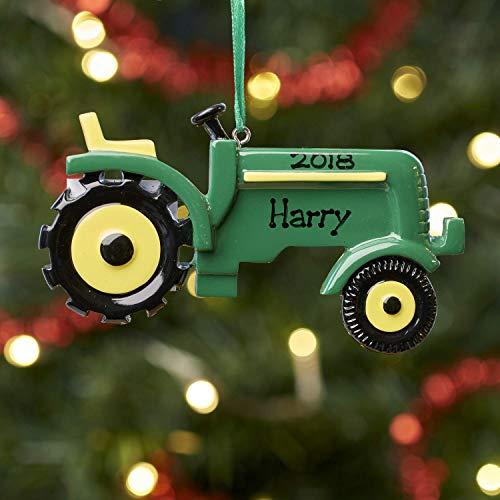 Personalisierte Dekoration Traktor Grün (Green Tractor)