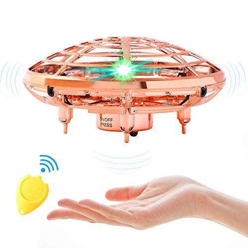 UFO Drohne, UFO Flying Ball, Kinder Mini Drohne, Fliegender Ball Handsteuerung, Flugzeuge Spielzeug, Hubschrauber Quadrocopter mit 360°Rotierenden und LED-Leuchten, Geschenke für Jungen Mädchen.