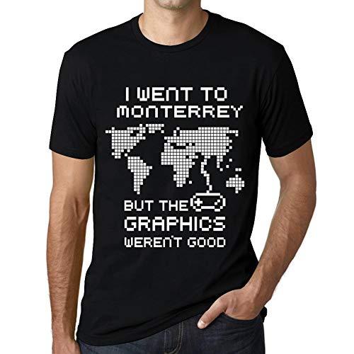 Hombre Camiseta Vintage T-Shirt Gráfico I Went To Monterrey Negro Profundo