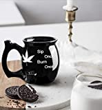 Innovative Black Coffee Mugs - new edition - wake and bake - roast and toast - for daily use and a great gift
