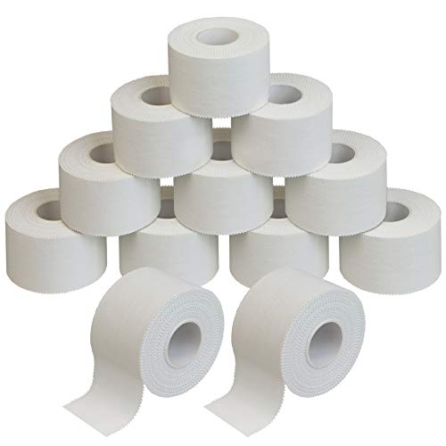 ALPIDEX 12 Rollen Sport Tape Set 3,8 cm x 10 m Tapeverband weiß