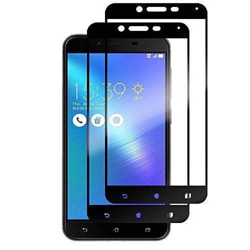 [2 Pack ] ASUS Zenfone 3 Max Plus ZC553KL Pellicole Protettive, Weideworld 3D Curva Pellicola Protettiva Screen Protector in Vetro Temperato per ASUS Zenfone 3 Max Plus Nero