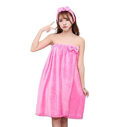 Gbcyp super absorberende handdoek sexy schattige boog wrap flanel nachtjapon rok beha badhanddoek microfiber handdoek dame set voor volwassenen, 14