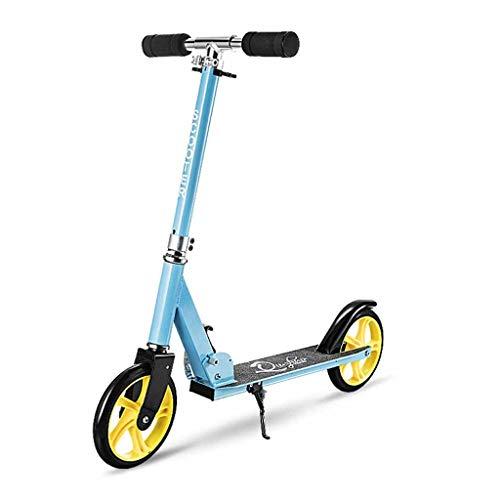 WANG LIQING Scooter de 2 Ruedas, Plegable Totalmente de Aluminio Material de Moto, Estable y Materiales Fuertes, el Medio Ambiente, cómodo de Deslizamiento, Fuerte de Soporte de Carga.