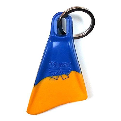 Churchill Makapuu Swimfins clave cadena, Azul, Amarillo
