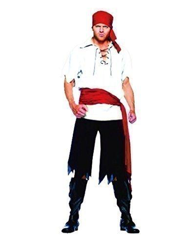Rubber Johnnies TM Costume da Pirata Barbanera per Uomo