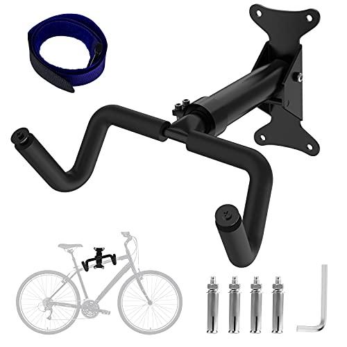 Yodeace Soporte Bicicletas Pared, Colgador Bicicleta Pared Ángulo y Longitud Ajustables Carga Máxima 50 kg Plegable Soporte Bicicleta