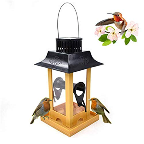 Bird Feeder - UMei Large Bird House for Outside,Anti-Shock Anti-Pressure Outdoors Bird Food Distributor,Best for Wild Birds,Easy to Clean