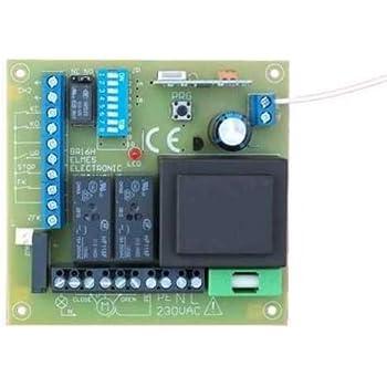 230V 2-Kanal 433Mhz Funk Schalter Taster Doppelgarage Empfänger Handsender