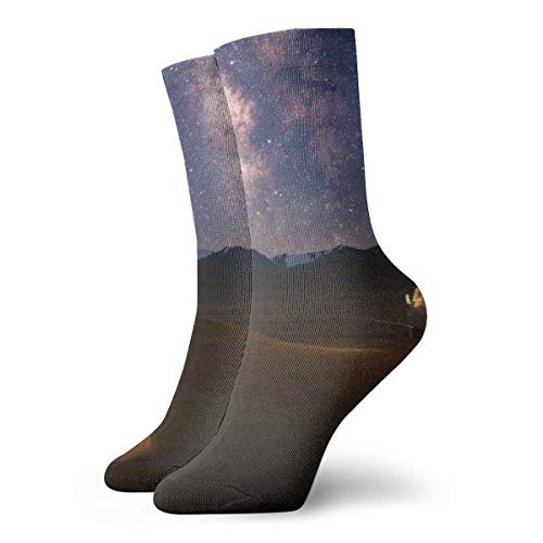 Warm-Breeze Night Camp Tent Compression Socks Chaussettes Unisexe Fun Casual Crew Socks Thin Socks Short Ankle For Outdoor Athletic Moisture Wicking