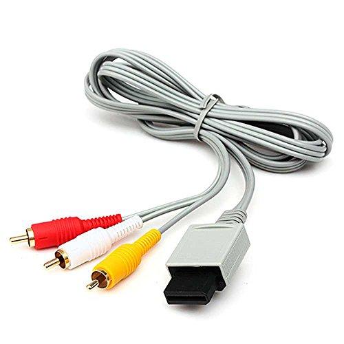 Ociodual Cable AV 3 RCA Video Audio Compuesto para Consola Nintendo Wii...