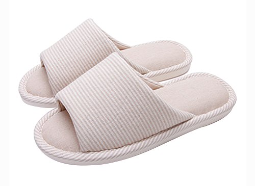 (Made By Cotton) Skidproof Le Style Simple De Pantoufles