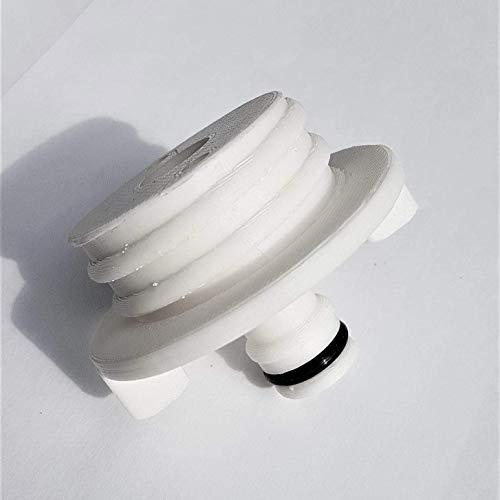 Bouchon de réservoir d'eau avec connecteur de tuyau pour camping-car - Compatible avec le type à vis Continental : Adaptateur blanc
