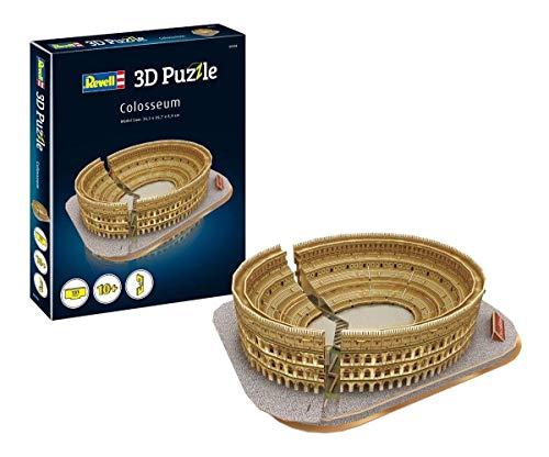 Revell 3D Puzzle 204 Colosseum, das berühmte Amphitheater in Rom Zubehör, Farbig