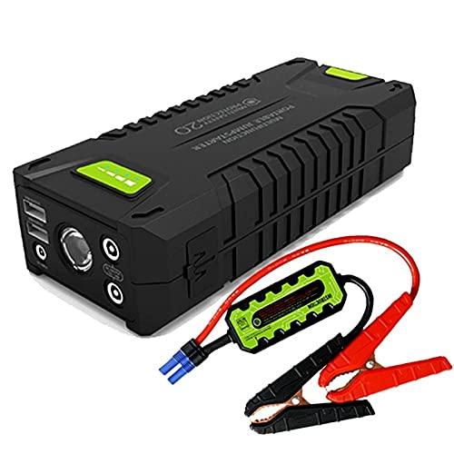 HDONG Arrancador de automóviles 12V Cargador automotriz portátil Multifunción Startup Jumper Vehículo de Emergencia Batería Booster