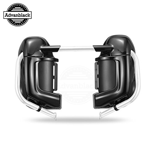 Advanblack im Lager Vivid/Glossy Black Lower gelüftete Fairing fit für Harley Touring Road Street Electra Glide Road King flhr 1983-2016 pre-Rushmore Leg fairings Kits Glove Box Vivid Black