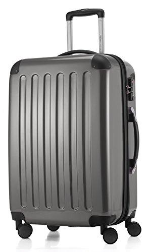 HAUPTSTADTKOFFER - Alex -  4 Doppel-Rollen Hartschalen-Koffer Koffer Trolley Rollkoffer Reisekoffer, TSA, 65 cm, 74 Liter, Titan