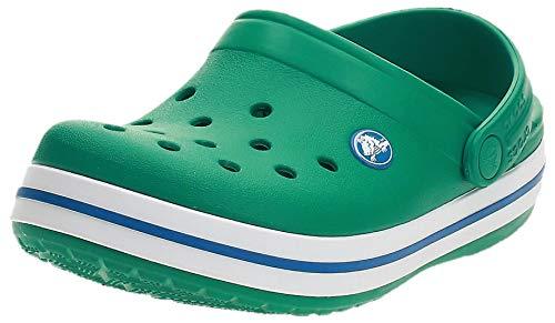 Crocs Crocband Clog K, Zuecos Unisex Niños, 33/34 EU, Verde (Deep Green/Prep Blue)