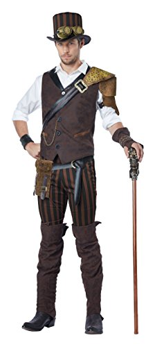 California Costumes Men's Steampunk Adventurer Costume, Brown, X-Large