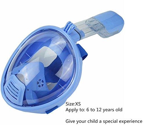 sendream Maschera da Snorkeling per la respirazione Integrale, per Adulti e ragazziMaschera Subacquea rivoluzionaria Completamente asciutta con Tecnologia Anti-Fog e Anti-Perdita