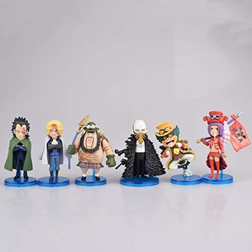 Mopoq One Piece WCF Q Version 6 Révolutionary Army Saab Dragon Crow Betty Box Figure Figure PVC Action Figure jouet Jouet Adulte Modèle de collection Poupée