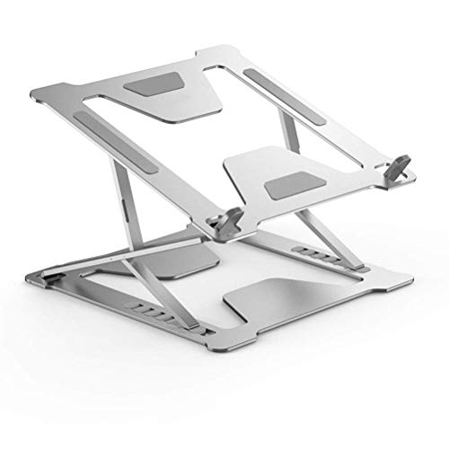 YHNJI Laptop Stand-Portable Foldable Desktop Double-Layer Cooling Aluminum Alloy Computer Lifting Bracket For Windows & Mac Devices