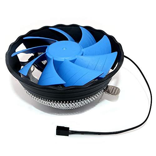 DollaTek CPU-koeler, 12 cm, stille ventilator voor Intel 115X / LGA 775 en AMD 754/939/940 / AM3 / AM2 / FM1 / FM2 CPU-koeler 120 mm PC-ventilator - geen lichte versie