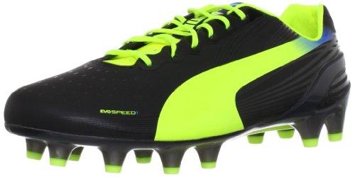 Puma evoSPEED 1.2 FG 102833, Herren Fußballschuhe, Schwarz (black-fluo yellow-brilliant blue 01), EU 40 (UK 6.5) (US 7.5)