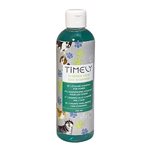 Timely, shampoo rigenerante per cani con vitamine, 250 ml