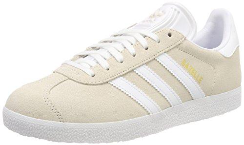 adidas Herren Gazelle Sneaker, Grau (Linen/Footwear White/Footwear White 0), 38 EU