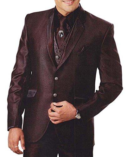 INMONARCH Hommes marron Costume Smoking Special 7 Pc TX910R36 46 or S (hauteur 171 cm a 180 cm) Marron