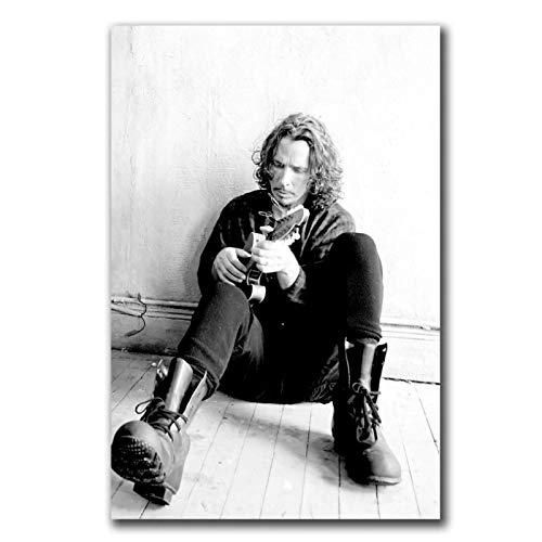 Chris Cornell Soundgarden Music Hot Gift Art Poster Canvas Painting Decoración para el hogar -50x70cmx1pcs - Marco interior de madera