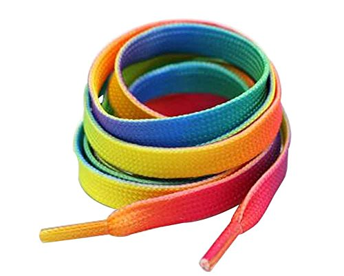 Blancho Ensemble de 4 Cordons adapté pour Chaussures de Sport et de Toile [Multicolor]