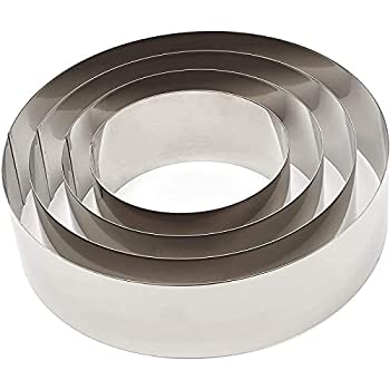 Round Cake Rings Set 6/8/10/12 inch Stainless Steel Baking Cutter  4 Piece