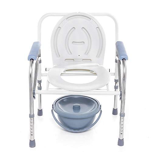 Feiyi, sedia pieghevole per vasino, da campeggio, regolabile, per WC