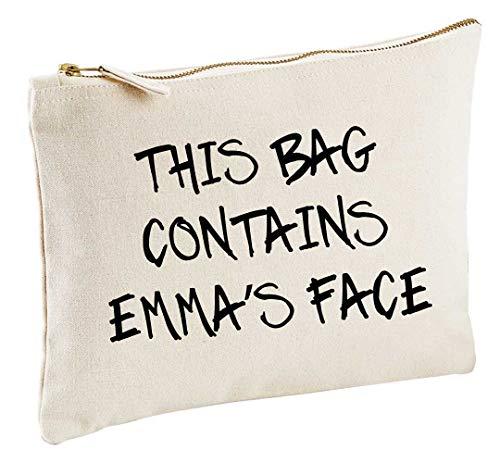 Trousse de maquillage personnalisable avec inscription « This Bag Contains My Face »