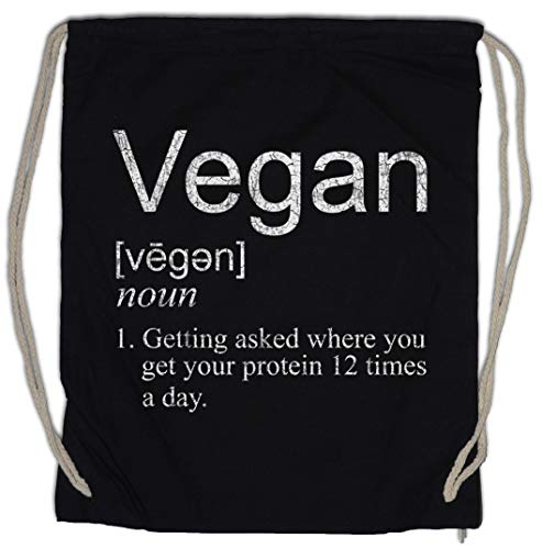 Urban Backwoods Vegan Proteines Bolsa de Cuerdas con Cordón Gimnasio