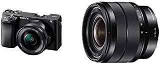 Sony Alpha A6400 Mirrorless Camera E Mount Compatible with 16-50mm Lens- Ilce-6400L/B with Sony SEL1018 10-18mm Wide-Angle...