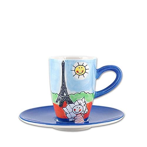 440s.de Mila Keramik Espresso-Tasse mit Untere, Paris   MI-88002   4045303880023