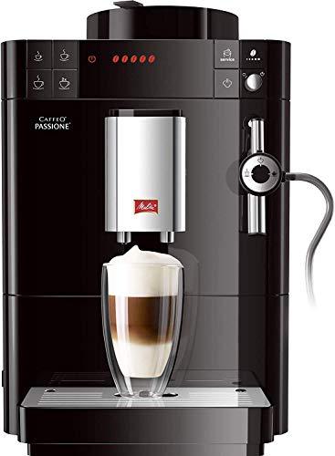 Melitta Passione F530-102, Cafetera Automática con Molinillo, Café en Grano, Sistema de leche, Limpieza Automática, Personalizable, 15 Bares, Negro