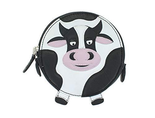 Mala Leather Monedero Redondo de Cuero para Monedas con Diseño Animal 4155_11 Vaca