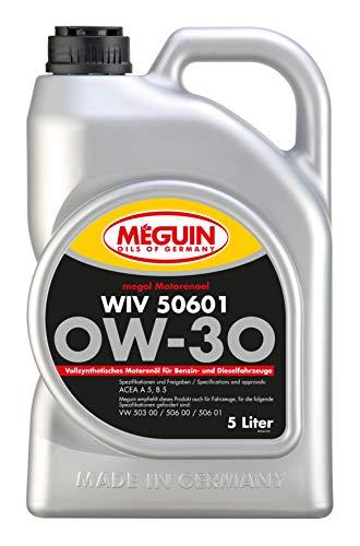Meguin 6322 Megol Motoröl WIV 50601 SAE 0W-30 (vollsynthetisch), 5 L