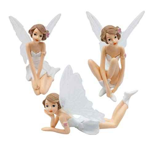 Amosfun 3st Fee Figur Kuchen Topper Feengarten Ornamente Puppenzubehör Tortenfigur Dekoration