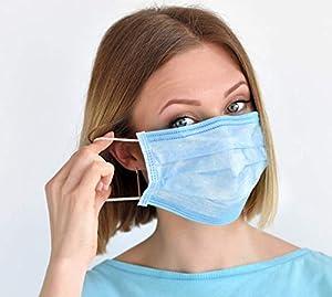 In pronta consegna Mascherina chirurgica monouso 3 strati antipolvere tessuto non tessuto (TNT) scatola da 50 pezzi