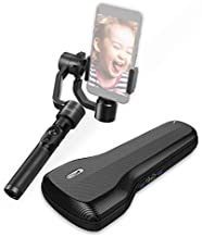 DOBOT Rigiet, 3-Axis Handheld Gimbal Stabilizer with Auto-Tracking, Live Streaming, Slow Motion, Timelapse, Panorama for iPhone 7 6 SE Samsung Galaxy S9+ S9 S8+ S8 S7 S6 Q2 Edge, New Version