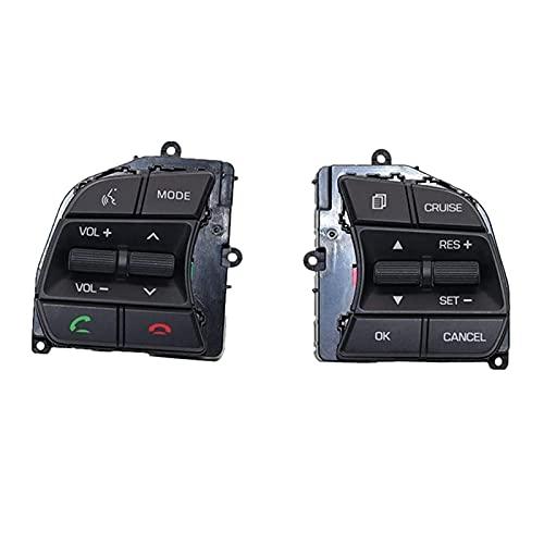ZHIXIANG Interruptor de Control de Control de Ruedas de automóvil Interruptor de Control de Crucero Adecuado para Hyundai Sonata LF 2016-2018 (Color : Black)